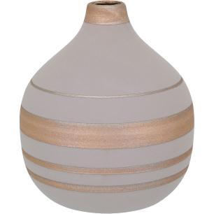 Vaso Cerâmica Cinza Tongass 22X19X19Cm