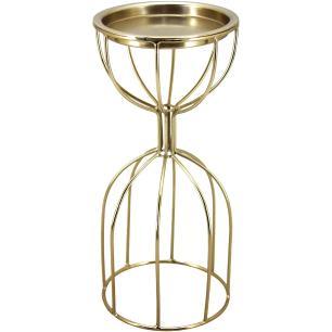 Castiçal Metal Dourado Home&Co Halles 22X10X10Cm