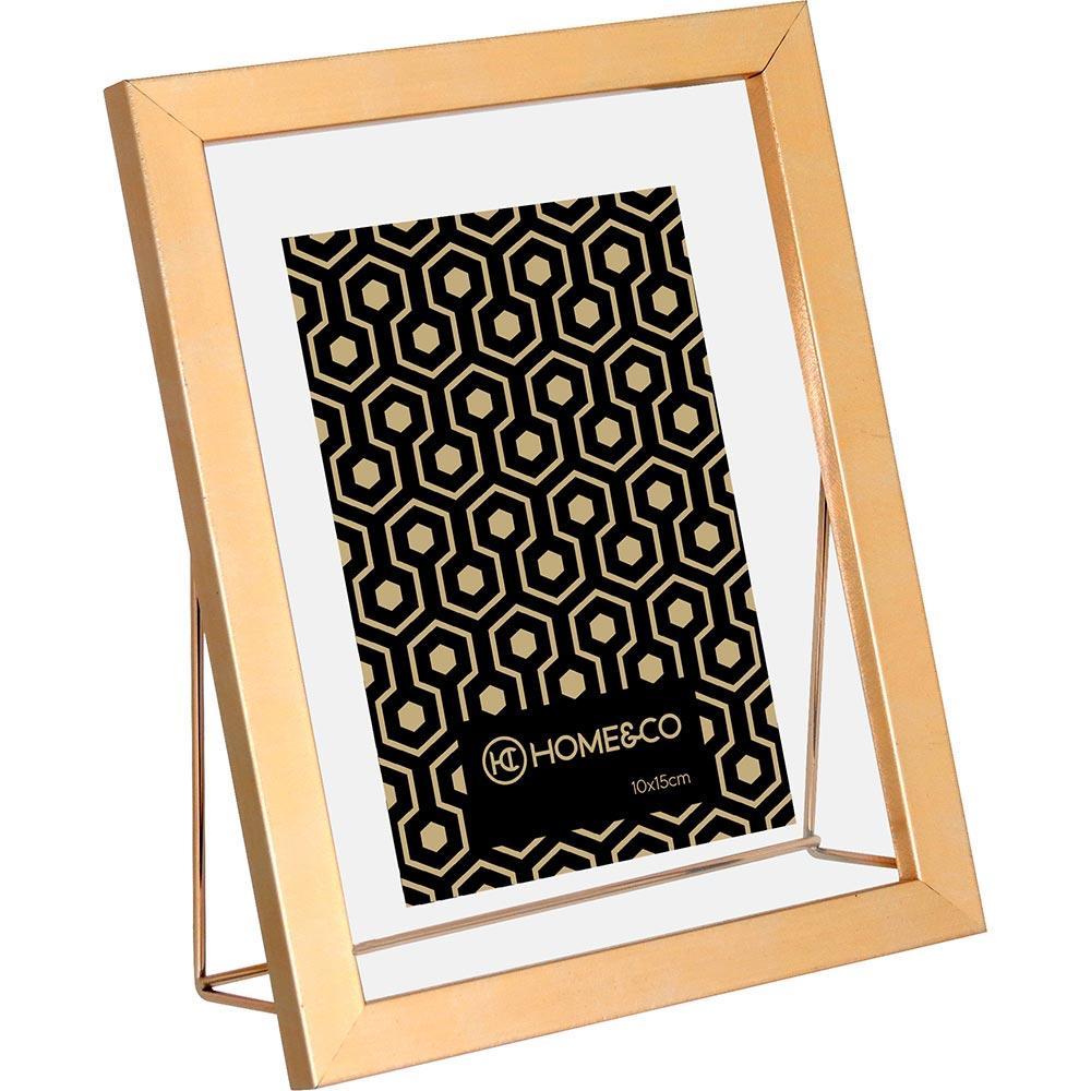 Porta-Retratos Plástico Dourado 10X15 Home&Co Donan 23X18X2Cm