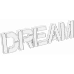 Letras Espelhado Dreams Vidro Home&Co Mirage 10X40X2Cm