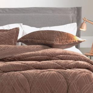 Porta Travesseiro Altenburg Blend Elegance Twist 50 x 70cm Marrom Plush