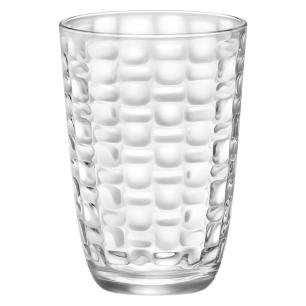Copo Long Drink Vidro Transparente 390Ml Bormioli Rocco Mat 12X8X8Cm 6 Peças