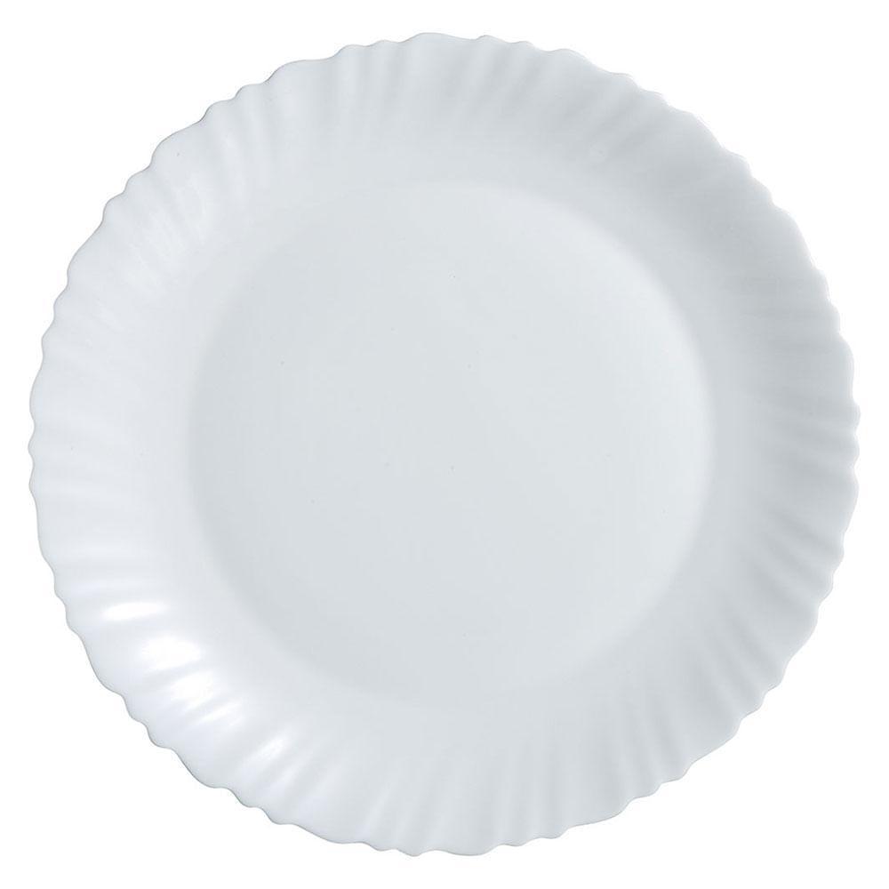 Vidro Temperado Branco Luminarc Feston Sousplat 2X30X30Cm