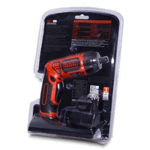 Parafusadeira a bateria 3,6V com Led e 10 acessórios Black Decker