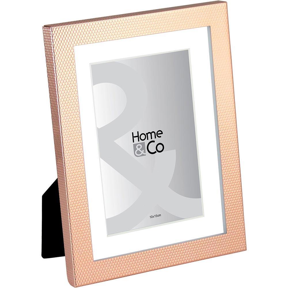 Porta-Retratos Metal Cobre 10X15 Home&Co Vennet 21X16X3Cm