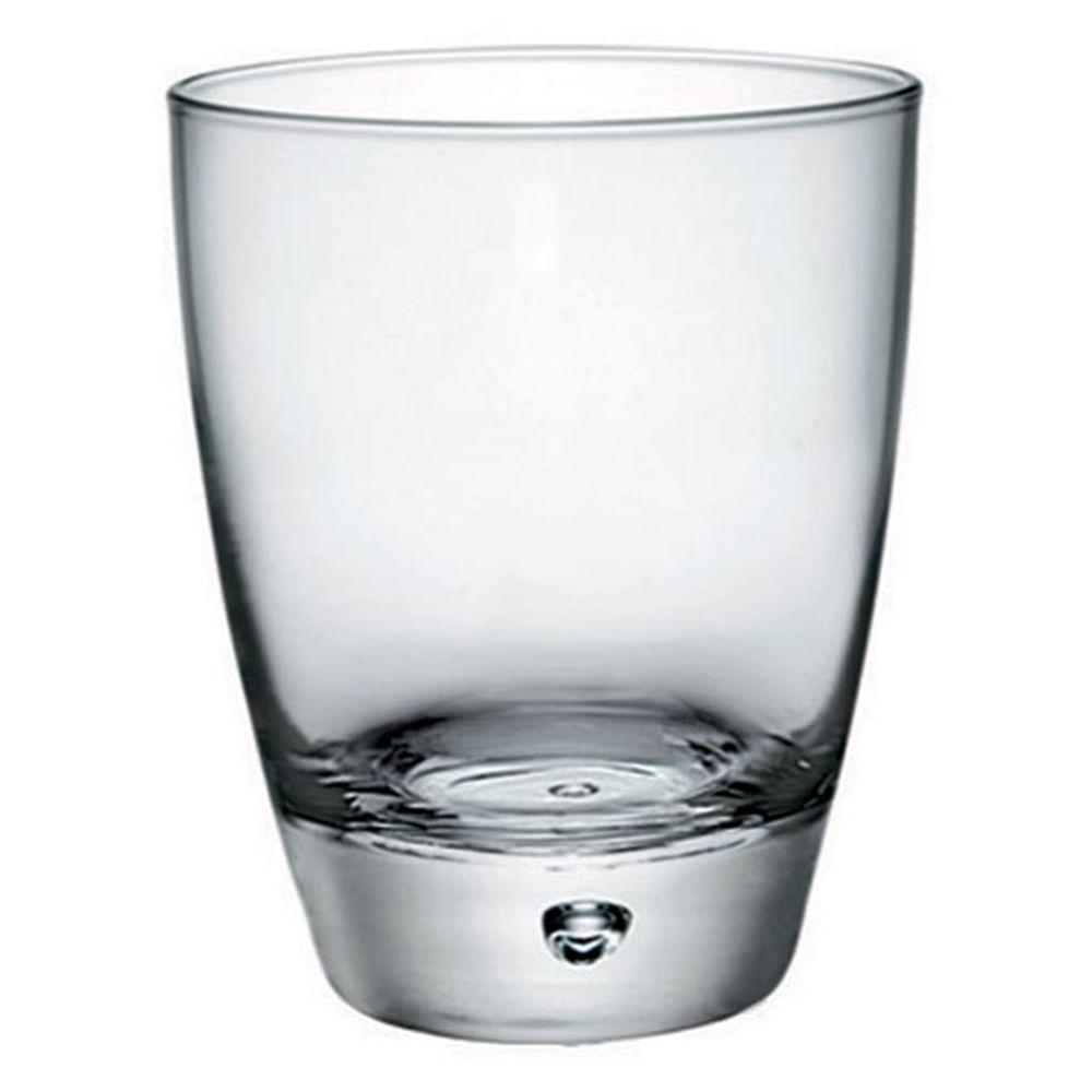 Copo Uísque Vidro Transparente 350Ml Bormioli Rocco Luna 11X9X9Cm 3 Peças