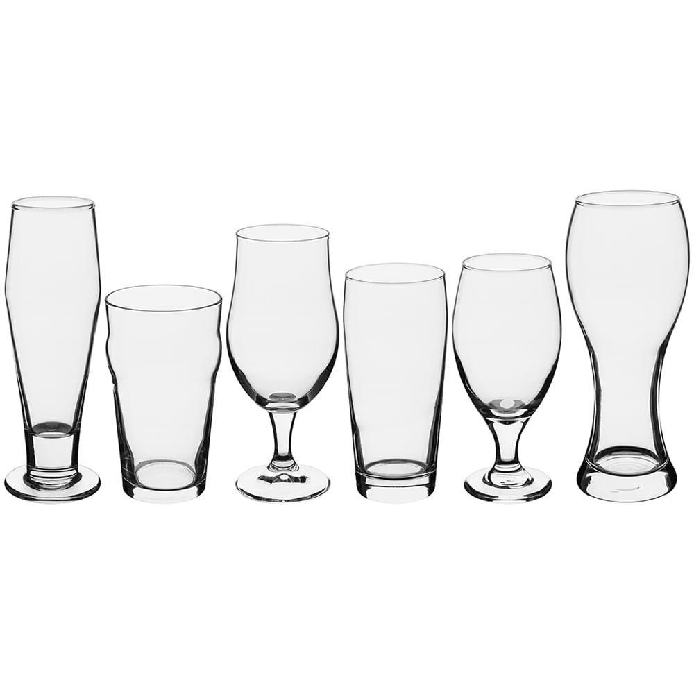 Jogo Copos/Taças Cerveja 6 peças Vidro Transparente Libbey Craft Brew