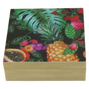 Caixa Organizadora Color Madeira Tropical 6X17X17Cm