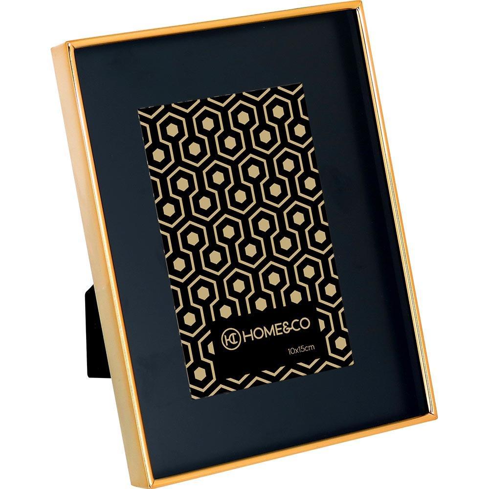 Porta-Retratos Metal Preto 10X15 Home&Co Bodian 21X16X2Cm