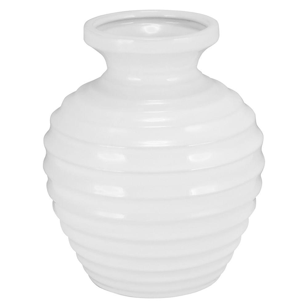 Vaso Cerâmica Branco Honey 23X19X19Cm