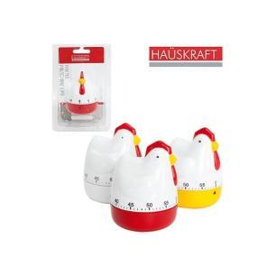 Timer para Cozinha Hauskraft Galinha Timer-005 Branco e Vermelho 60 Minutos Regressivo