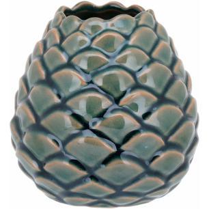 Vaso Cerâmica Verde Home&Co Oleron 13X13X13Cm