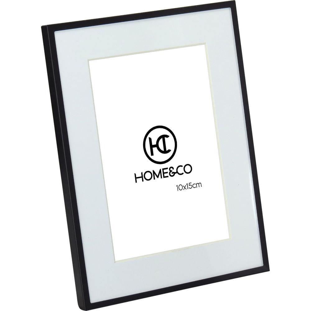 Porta-Retratos Alumínio Preto 10X15 Home&Co Larson 20X15X2Cm