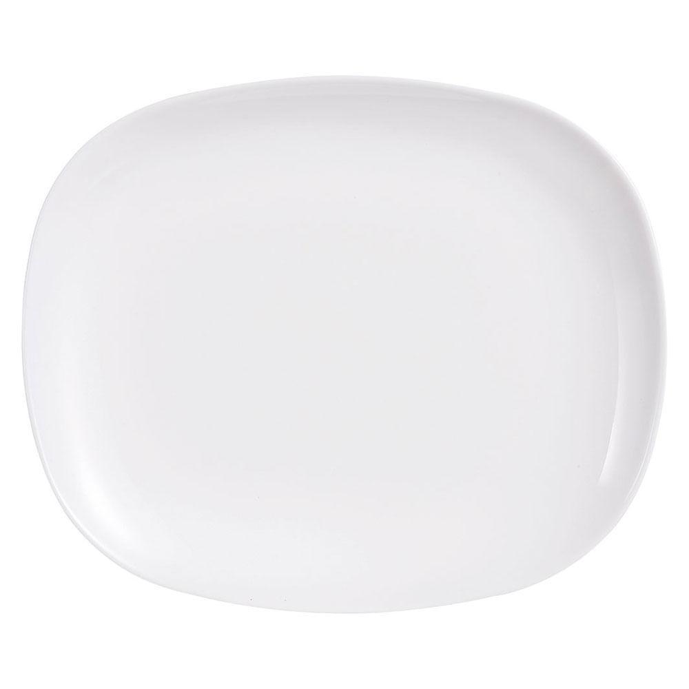 Prato Raso Vidro Temperado Branca Luminarc Sweet Line 2X28X23Cm