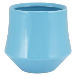 Vaso Cerâmica Azul Hover 12X13X13Cm