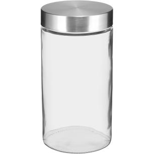 Pote Vidro Transparente 1,3L Round 22X11X11Cm