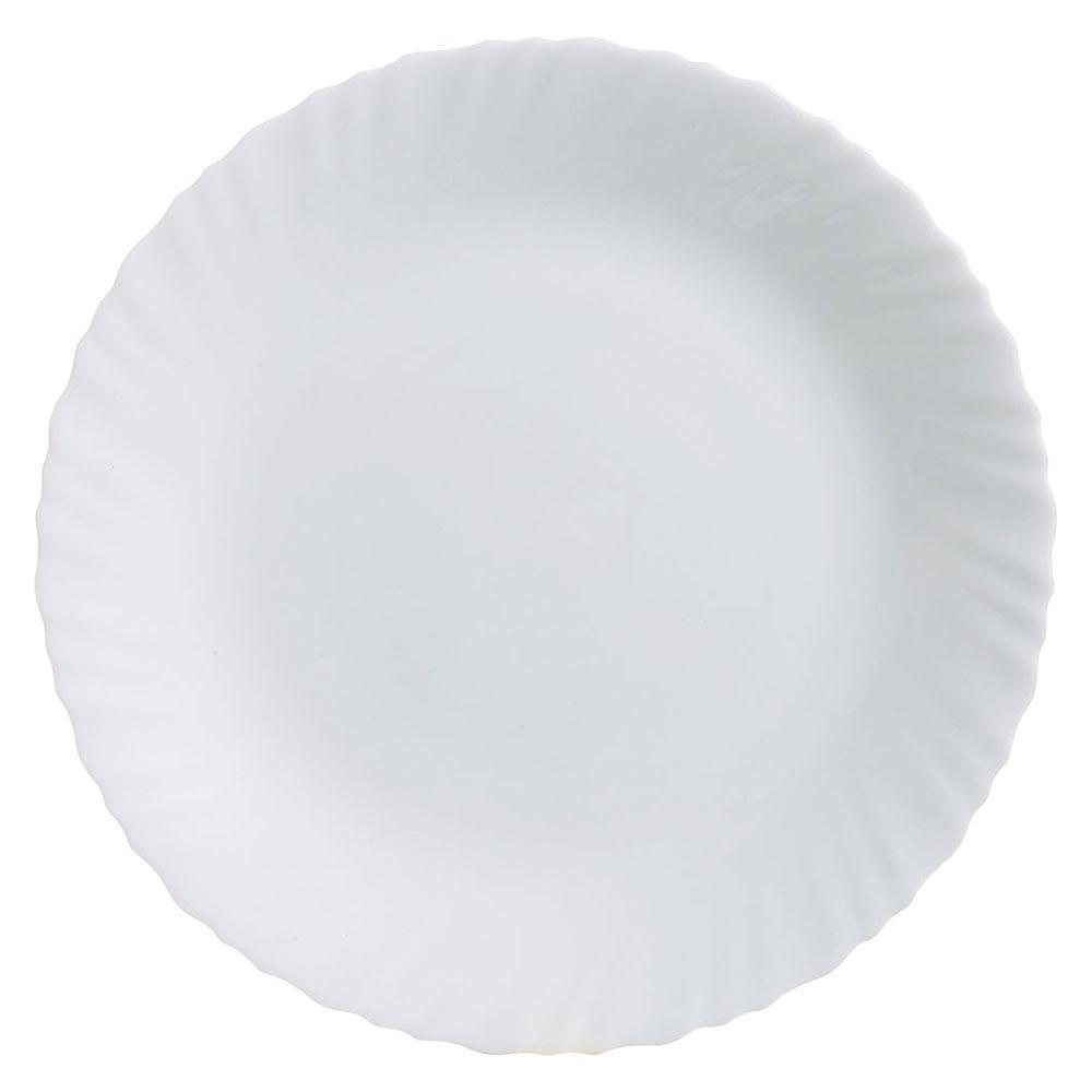 Prato Raso Vidro Temperado Branco Luminarc Feston 2X27X27Cm 6 Peças