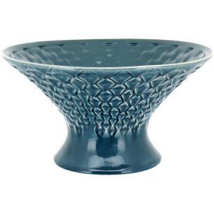 Centro Mesa Cerâmica Azul Home&Co Morea 18X32X32Cm