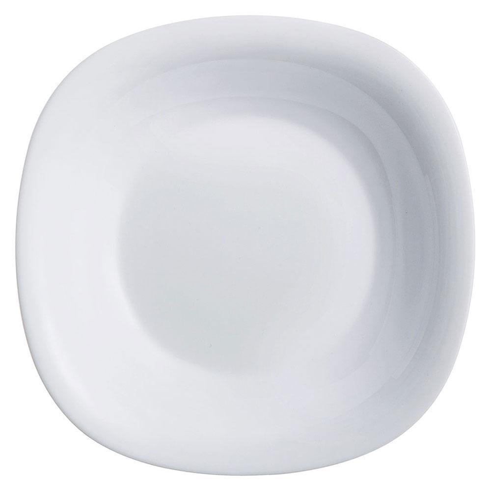 Prato Fundo Vidro Temperado Branco Luminarc Carine 4X21X21Cm 6 Peças