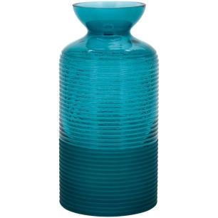 Vaso Vidro Azul Home&Co Lines 25X12X12Cm