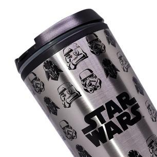 Copo Viagem Zona Criativa Stormtrooper E Vader 450ML