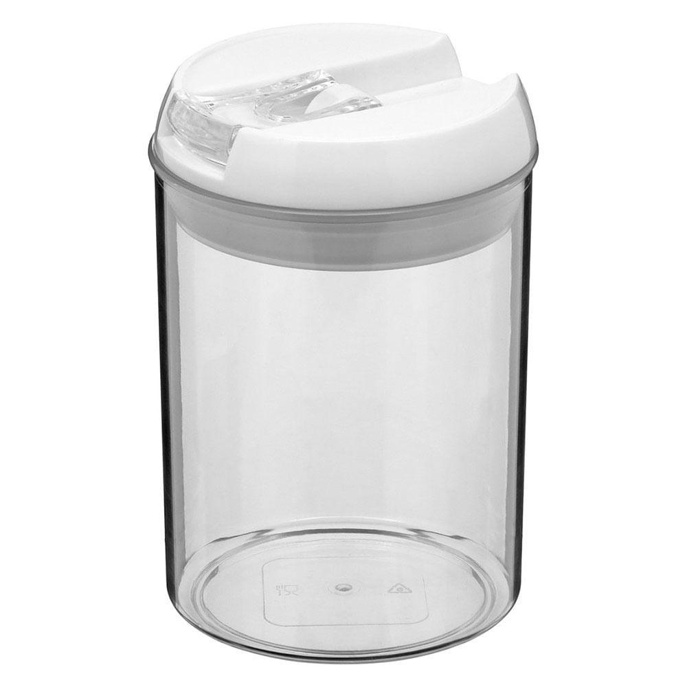 Pote Hermético Plástico Transparente 750Ml Pratik 16X10X10Cm
