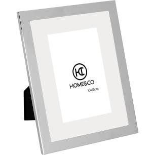 Porta-Retratos Metal Prata 10X15 Home&Co Minelli 22X17X1Cm