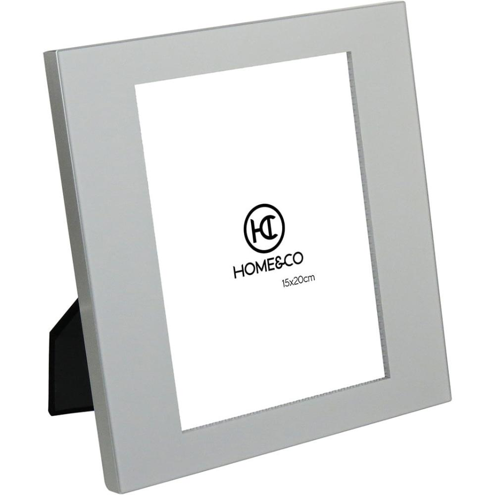 Porta-Retratos Alumínio Cinza 15X20 Home&Co Nilo 24X22X2Cm