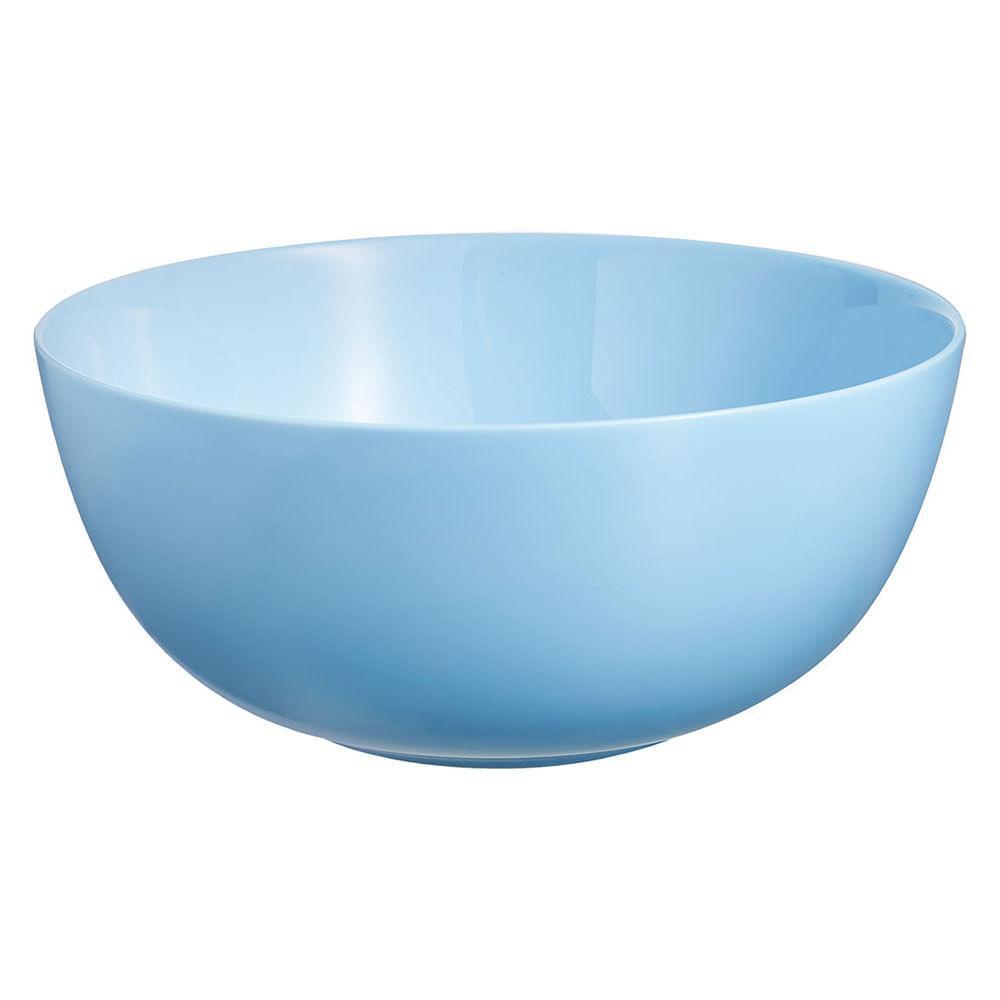 Saladeira Vidro Temperado Azul 2L Luminarc Diwali 9X21X21Cm