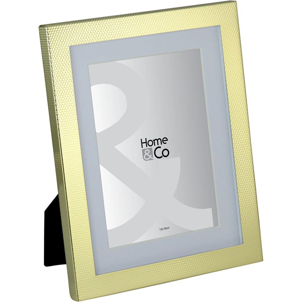 Porta-Retratos Metal Dourado 13X18 Home&Co Vennet 25X20X2Cm