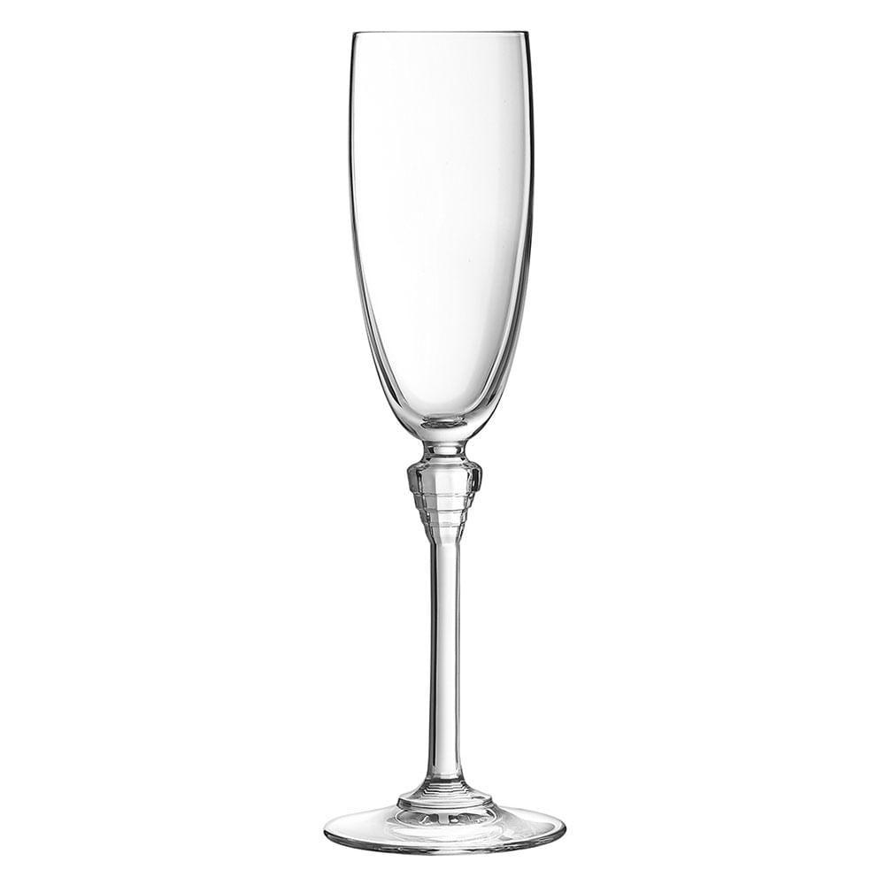 Taça Champagne 6 peças Cristal Transparente 190Ml Amarante 24X7X7Cm