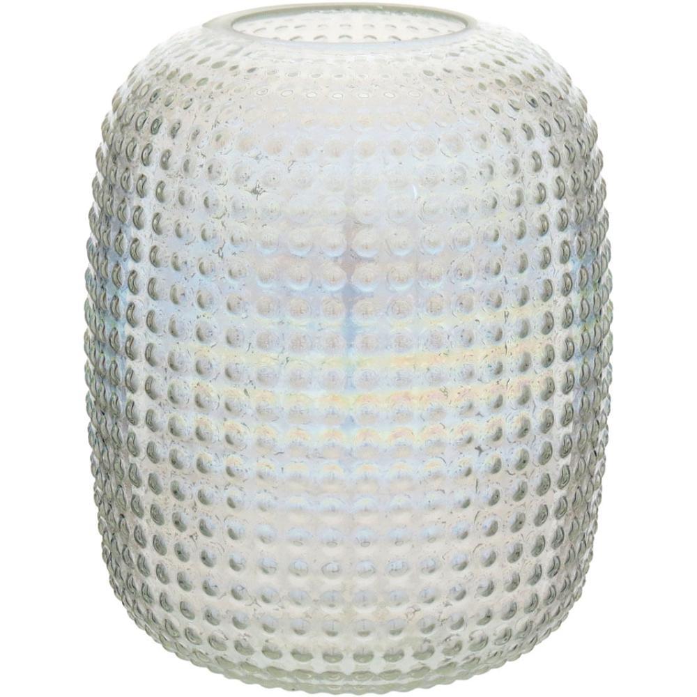 Vaso Furta-Cor Lustrado Vidro Origan 19X17X17Cm