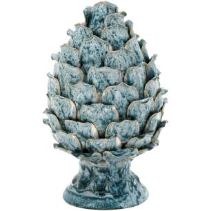 Pinha Cerâmica Azul Home&Co Pine 22X16X16Cm