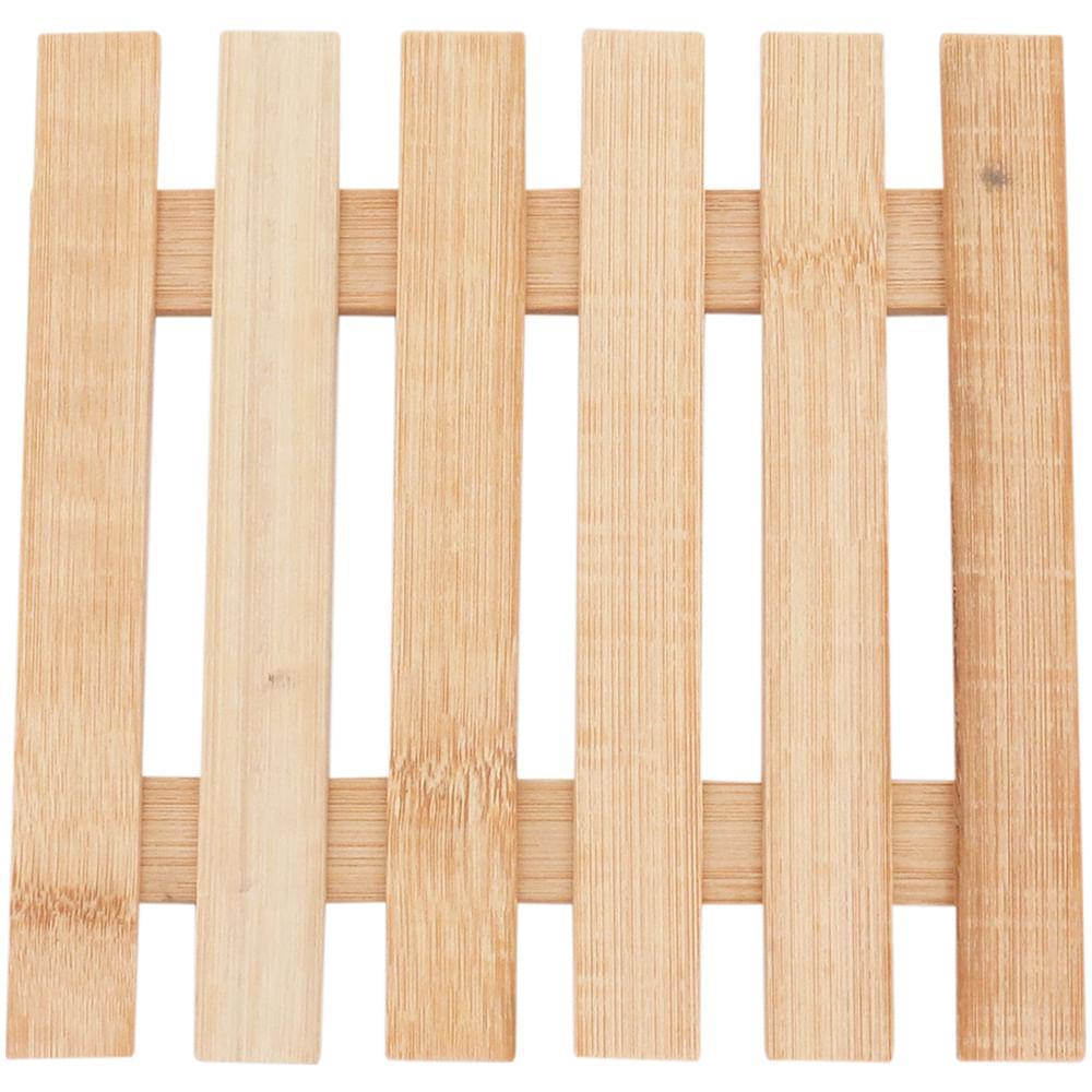 Descanso Panela Bambu Natural Table 1X17X17Cm