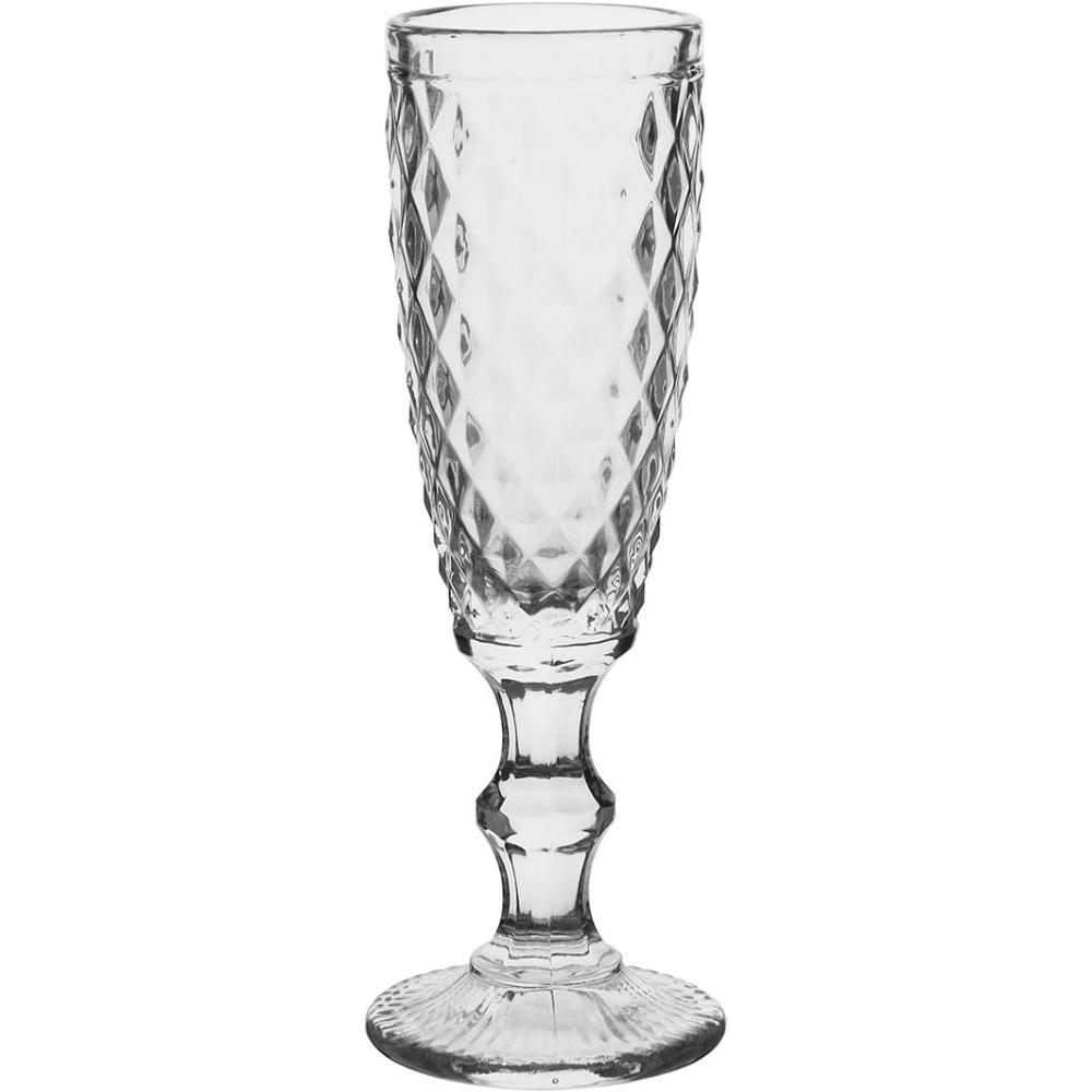 Taça Champagne 6 peças Vidro Transparente 160Ml Albany 20X7X7Cm