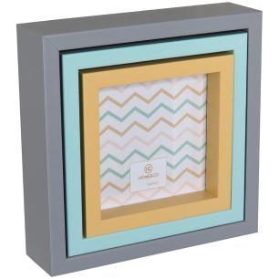 Porta-Retratos Color 3 peças Plástico Home&Co Virchow 17X17X5Cm