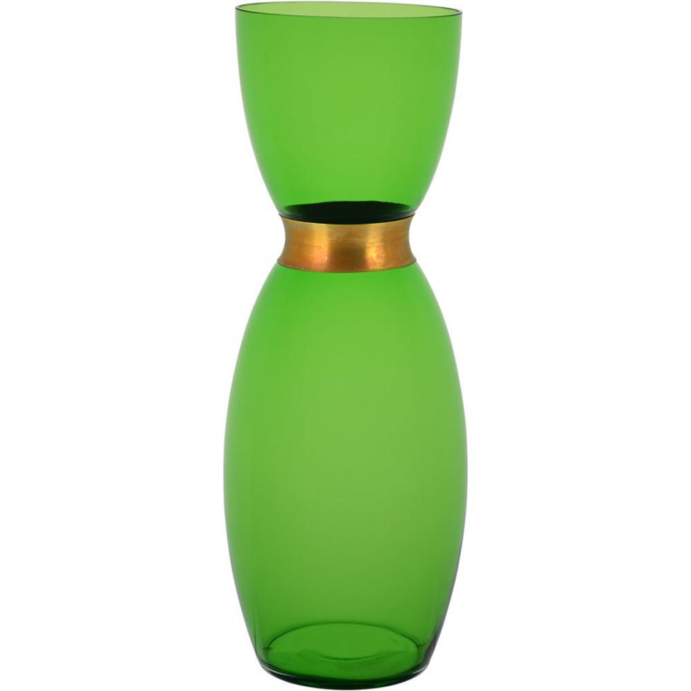 Vaso Vidro Verde Chloro 38X13X13Cm