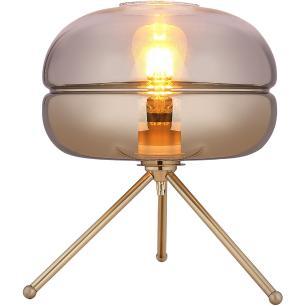 Luminária De Mesa Vidro Cinza Home&Co Alleger 39X29X29Cm