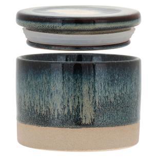 Cerâmica Azul Cayo Potiche 8X10X10Cm