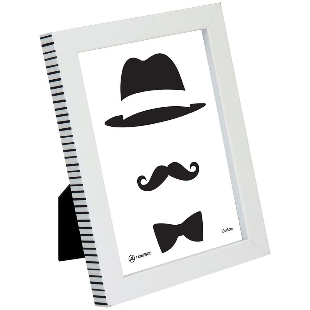 Porta-Retratos Plástico Branco 13X18 Home&Co Maddie 20X16X2Cm
