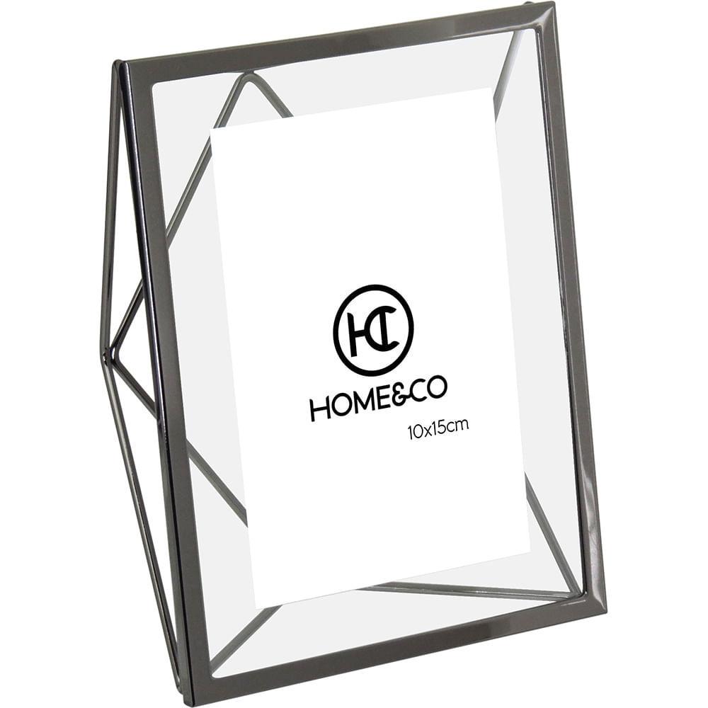 Porta-Retratos Alumínio Preto 10X15 Home&Co Osler 20X15X8Cm