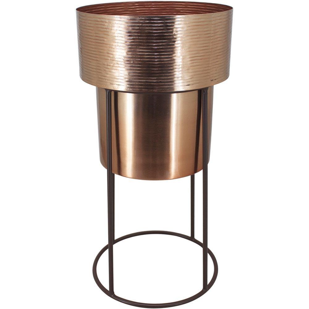 Cachepô Com Suporte Metal Cobre Home&Co 50,5X25X25Cm