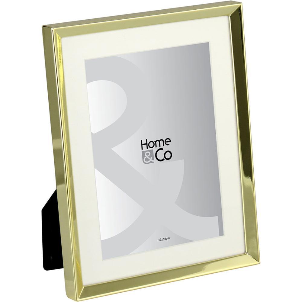 Cenario Porta-Retratos Metal Dourado 13X18 Home&Co 22X17X2Cm