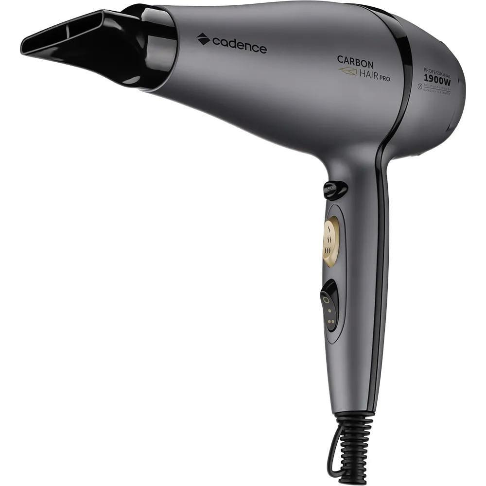 Secador Cadence Profissional Carbon Hair Pro 127V Preto