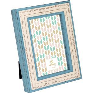Porta-Retratos Plástico Azul 10X15 Home&Co Capri 20X16X3Cm