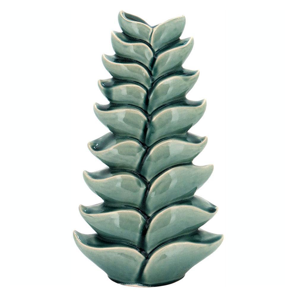 Vaso Cerâmica Verde Home&Co Scrat 42X23X11Cm