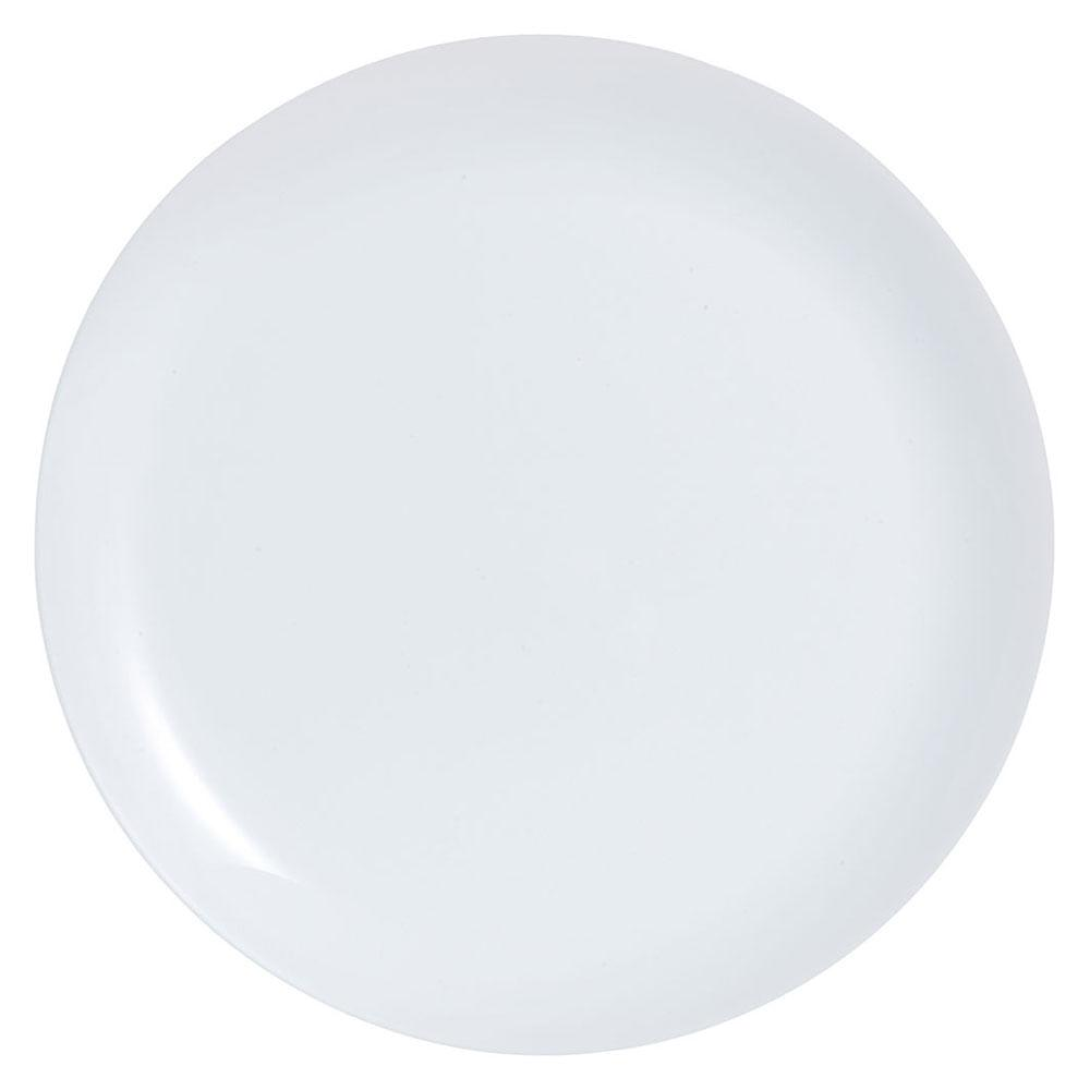 Prato Raso Vidro Temperado Branco Luminarc Diwali 2X27X27Cm 6 Peças