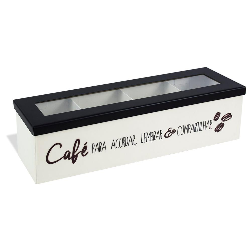 Caixa Porta-Cápsulas Café para Acordar de Aço