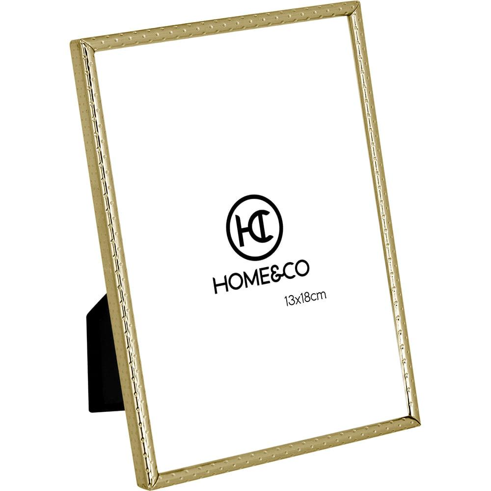 Porta-Retratos Metal Dourado 13X18 Home&Co Homz 18X13X2Cm