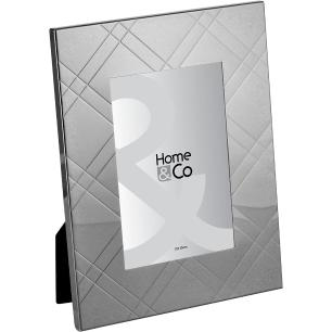 Porta-Retratos Metal Cinza 10X15 Home&Co Memorial 23X18X1Cm